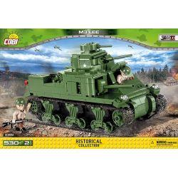COBI 2385 Xếp hình kiểu Lego MILITARY ARMY M3 Lee Tank Xe Tăng M3 Lee 530 khối