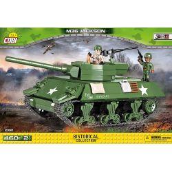 COBI 2390 Xếp hình kiểu Lego MILITARY ARMY M36 Jackson M36 Tank Destroyer Pháo Chống Tăng M36 460 khối