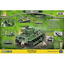 COBI 2389 Xếp hình kiểu Lego MILITARY ARMY M18 Hellcat Destroyer Tàu Khu Trục M18 Hellcat 460 khối