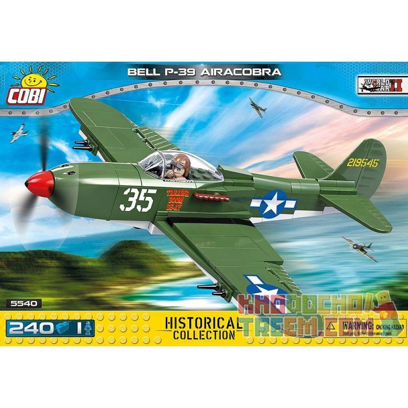 COBI 5540 Xếp hình kiểu Lego MILITARY ARMY Bell P-39 Airacobra P-39 Sky Cobra 240 khối