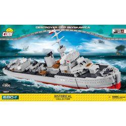 NOT Lego GEAR 5006471 Pirate Logo Collectable Coin Destroyer Bliksem , COBI 4807 Xếp hình Khu Trục Hạm Bliksem 680 khối