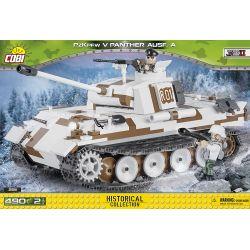 COBI 2511 Xếp hình kiểu Lego MILITARY ARMY Panzer V Panther Ausf. A Leopard Tank Leopard Tank. 490 khối