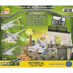 COBI 2388 Xếp hình kiểu Lego MILITARY ARMY 2cm Flak 30 Defense Point Type 30 2cm AA Gun Defense Point Loại 30 điểm Phòng Thủ Của Súng AA 2cm 170 khối