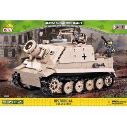 COBI 2513 Xếp hình kiểu Lego MILITARY ARMY 38 Cm Sturmtiger 38cm Assault Tiger Hổ Tấn Công 38cm 535 khối