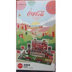 COCA-COLA GGSY22800305A 22800305A Xếp hình kiểu Lego SPORTS Gym Stadium Toys Đồ Chơi Sân Vận động