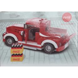 COCA-COLA GGSY942308465B 942308465B Xếp hình kiểu Lego RACERS Classic Car Xe Cổ điển