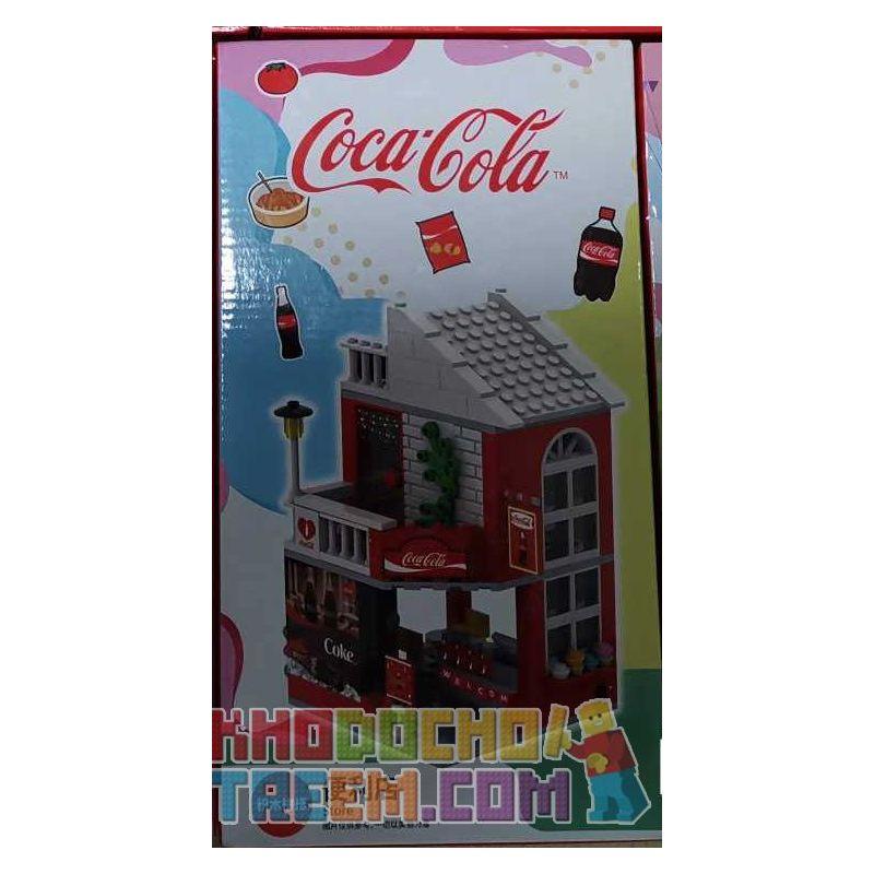 COCA-COLA GGSY22650325A 22650325A Xếp hình kiểu Lego CITY Shop Convenience Store Building Tòa Nhà Cửa Hàng Tiện Lợi