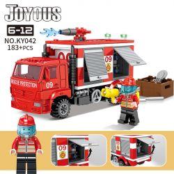 Kazi KY042 Xếp hình kiểu Lego FIRE RESCURE Joyous Chi Fun Fire Fire Truck Xe Cứu Hỏa 183 khối