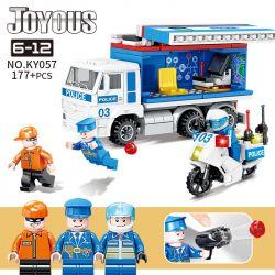 Kazi KY057 Xếp hình kiểu Lego POLICE Joyous Chiffon Small Command Police Xe Cảnh Sát Chỉ Huy Nhỏ 177 khối
