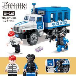 Kazi KY058 Xếp hình kiểu Lego POLICE Joyous Chiffon Prisoner Escape The Police Car Xe Cảnh Sát áp Giải Tù Nhân 125 khối