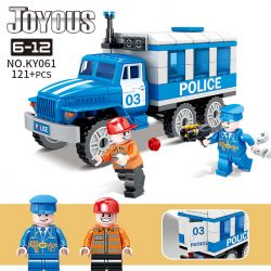 Kazi KY061 Xếp hình kiểu Lego POLICE Joyous Chiffon 03 Prisoner Tù Nhân 03 áp Giải Xe Cảnh Sát 121 khối
