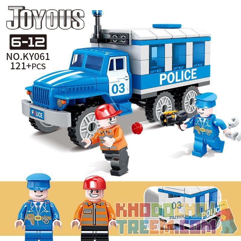 Kazi KY061 Xếp hình kiểu Lego Joyous Wisdom Police Prisoner 03 Escorted The Police Car Tù Nhân 03 áp Giải Xe Cảnh Sát 121 khối
