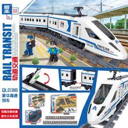 ZHEGAO QL0318 0318 Xếp hình kiểu Lego TRAINS Rail Transit Rail Luxury High-speed Train Tàu Cao Tốc Sang Trọng 513 khối