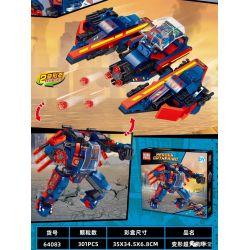 PRCK 64083 Xếp hình kiểu Lego SUPER HEROES Heroes Gathering Transformation Superman Mech Siêu Nhân Chuyển đổi Mech 301 khối