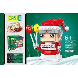 CAYI 10029A Xếp hình kiểu Lego SEASONAL Grandma Christmas Merry Christmas Christmas Grandmother Bà Già Giáng Sinh 210 khối