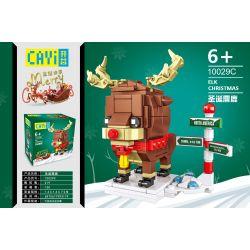 CAYI 10029C Xếp hình kiểu Lego SEASONAL ELK Christmas Merry Christmas Christmas Elk Giáng Sinh Nai Sừng Tấm 219 khối
