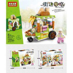 LELE BROTHER 8613- 8613-1 8613-2 8613-3 8613-4 8613-5 8613-7 8613-8 Xếp hình kiểu Lego CITY Mini Food Street Street Car 8 Stinky Tofu Carts, Octopus Dumpling Carts, Ice Cream Carts, Fresh Juice Carts,