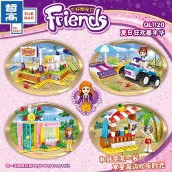 ZHEGAO QL1120 1120 Xếp hình kiểu Lego FRIENDS Good Friend Summer Carnival 4 Small Boxes Lễ Hội Mùa Hè 4 Hộp Nhỏ