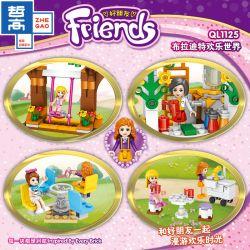 ZHEGAO QL1125 1125 Xếp hình kiểu Lego FRIENDS Good Friend Bradite Happy World Bradite Hạnh Phúc Thế Giới 429 khối