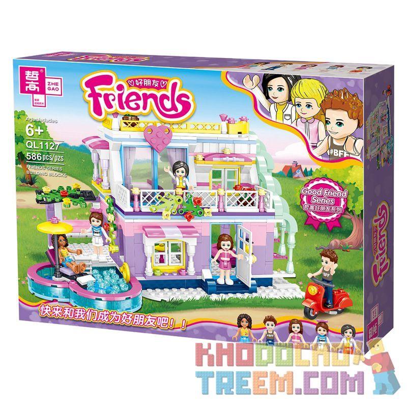 ZHEGAO QL1127 1127 Xếp hình kiểu Lego FRIENDS Good Friend Alisha's Sunny Holiday Villa Biệt Thự Nghỉ Mát đầy Nắng Của Alisha 586 khối
