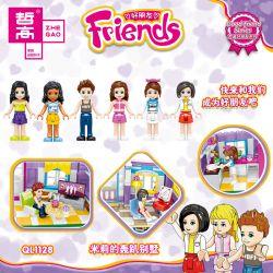 ZHEGAO QL1128 1128 Xếp hình kiểu Lego FRIENDS Good Friend Millie's Party Villa Biệt Thự Tiệc Tùng Của Millie 775 khối