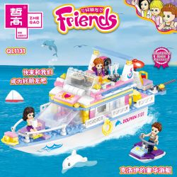 ZHEGAO QL1131 1131 Xếp hình kiểu Lego FRIENDS Good Friend Chloe's Luxury Yacht Du Thuyền Sang Trọng Của Chloe 349 khối
