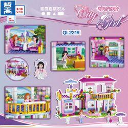 ZHEGAO QL2219 2219 Xếp hình kiểu Lego City Girl Villa Biệt Thự 486 khối