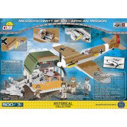 COBI 5544 Xếp hình kiểu Lego MILITARY ARMY Messerschmitt Bf 109 - African Mission Messerschmidt Bf 109-Africa Mission Nhiệm Vụ Của Messerschmidt Bf 109-Châu Phi 500 khối