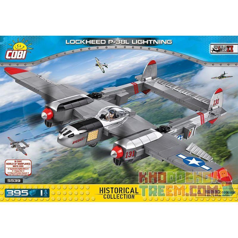 COBI 5539 Xếp hình kiểu Lego MILITARY ARMY Lockheed P-38 Lightning P-38 Lightning Fighter Máy Bay Chiến đấu Tia Chớp P-38 395 khối