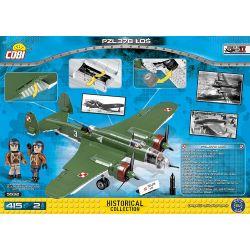 COBI 5532 Xếp hình kiểu Lego MILITARY ARMY PZL.37B Łoś Pzl.37 Moose PZL.37 Moose. 415 khối