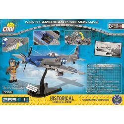 COBI 5536 Xếp hình kiểu Lego MILITARY ARMY North American P-51D Mustang P-51 Mustang Fighter Máy Bay Chiến đấu P-51 Mustang 265 khối