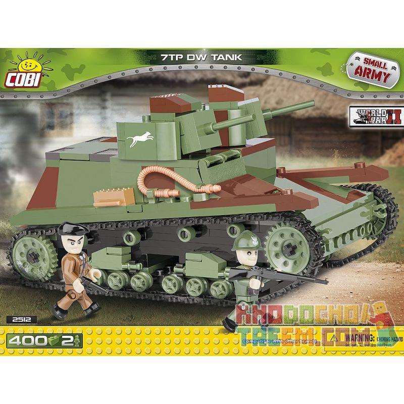 COBI 2512 Xếp hình kiểu Lego MILITARY ARMY 7TP DW Tank Bể 7TP DW 400 khối