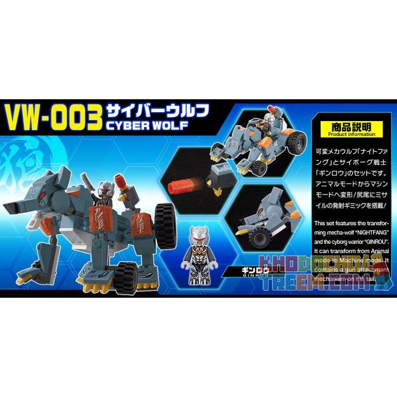BIKKU VW-003 Xếp hình kiểu Lego CYBER WOLF Saibo Wolf Saibo Sói. 136 khối