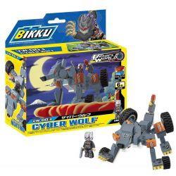 BIKKU VW-003 Xếp hình kiểu Lego CYBER WOLF Cyberwolf 136 khối