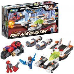 BIKKU PF-004 Xếp hình kiểu Lego FIRE! ACE BLASTER Fire! Ace Shockwave Ngọn Lửa! Ace Shockwave 407 khối