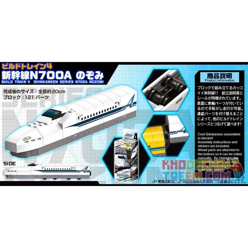 BIKKU BT4 Xếp hình kiểu Lego BUILD TRAIN 4 SHINKANSEN SERIES N700A NOZOMI BUILD TRAIN4 Shinkansen N700A Series Hope BUILD TRAIN4 Hy Vọng Sê-ri Shinkansen N700A