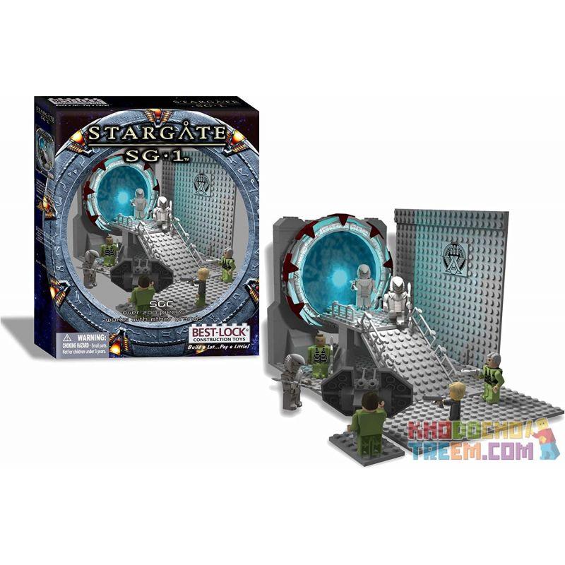 BEST-LOCK 01112S Xếp hình kiểu Lego STAR WARS Stargate SG-1 SGC Star Door SG-1 SGC. 200 khối