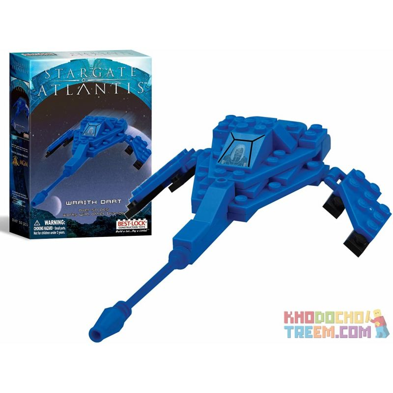 BEST-LOCK 01102S Xếp hình kiểu Lego STAR WARS Stargate Atlantis Wraith Dart Stargate Atlantis 50 khối