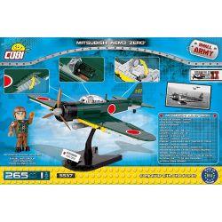 COBI 5537 Xếp hình kiểu Lego MILITARY ARMY Mitsubishi A6M3 Zero Zero Carrier Fighter Máy Bay Chiến đấu Số 0 265 khối