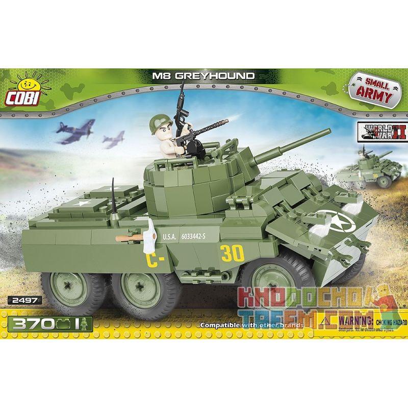 COBI 2497 Xếp hình kiểu Lego MILITARY ARMY M8 Greyhound M8 Armored Car Xe Bọc Thép M8 370 khối