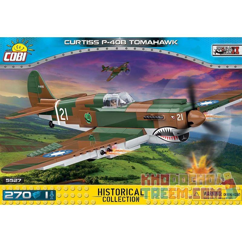COBI 5527 Xếp hình kiểu Lego MILITARY ARMY Curtiss P-40B Tomahawk P-40 Warhawk Fighter Máy Bay Chiến đấu P-40 Warhawk 270 khối