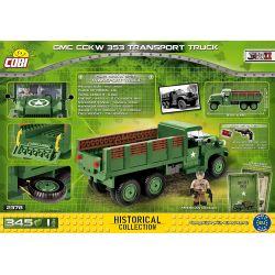 COBI 2378 Xếp hình kiểu Lego MILITARY ARMY GMC CCKW 353 Transport Truck GMC CCKW 353 Truck Xe Tải GMC CCKW 353 345 khối