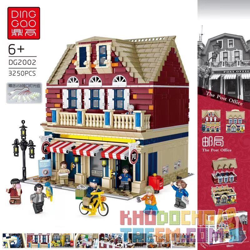 DINGGAO DG2002 2002 Xếp hình kiểu Lego CREATOR The Post Office Bưu điện 3250 khối