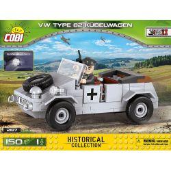 COBI 2187 Xếp hình kiểu Lego MILITARY ARMY VW Kübelwagen Typ 82 Type 82 Barrel Car Xe Thùng Loại 82 150 khối