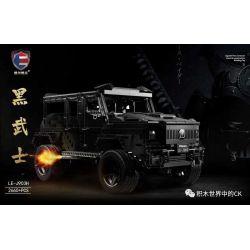 SHENZHEN RAEL ENTERTAINMENT LE-J903H J903H 903H LEJ903H Xếp hình kiểu Lego TECHNIC MANSORY Maisharu G-Class Black Warrior 2660 khối