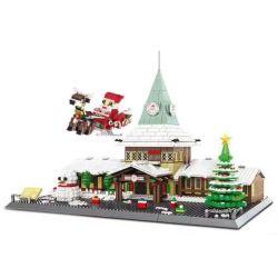 DR.LUCK 6218 WANGE 6218 Xếp hình kiểu Lego SEASONAL Santa Claus Office Christmas Office Văn Phòng Giáng Sinh 2228 khối