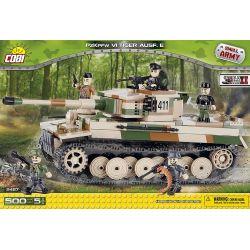 COBI 2487 Xếp hình kiểu Lego MILITARY ARMY Tiger PzKpfw VI Ausf. E Tank Six Tiger I Xe Tăng Six Tiger I 500 khối