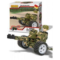 BEST-LOCK 509 Xếp hình kiểu Lego MILITARY ARMY Artillery Gun Cannon đại Bác 50 khối
