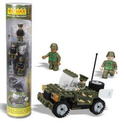 BEST-LOCK 1900 Xếp hình kiểu Lego MILITARY ARMY Military Patrol Car Xe Tuần Tra Quân Sự 74 khối