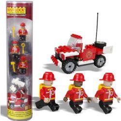 BEST-LOCK 1902 Xếp hình kiểu Lego CITY Firefighter Car Fire Truck Xe Cứu Hỏa 61 khối